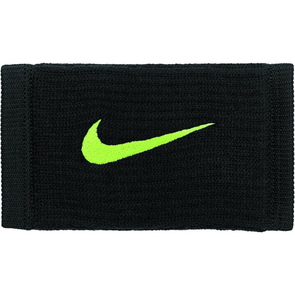 Nike Accessories Dri Fit Reveal Double Wide Wristbands One Size Black / Volt / Volt