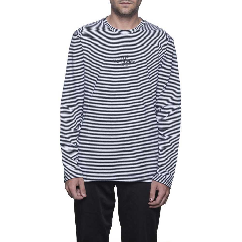 Huf Royale Stripe L/s S White / Black