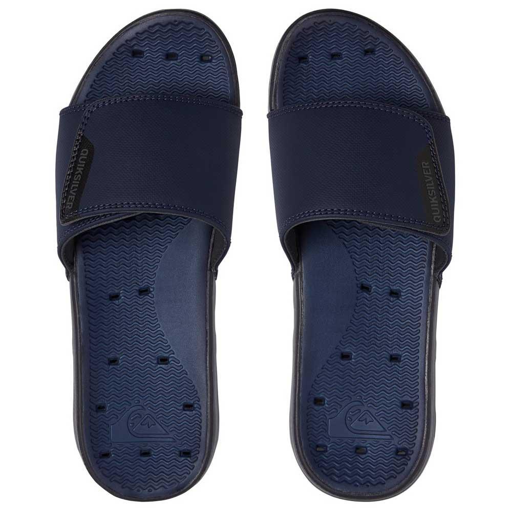c660d69cafe Quiksilver Amphibian Slide Adjust Black   Blue   Grey