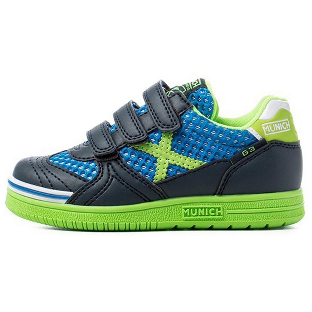 Munich G3 Breath Velcro In EU 26 Black / Green / Blue