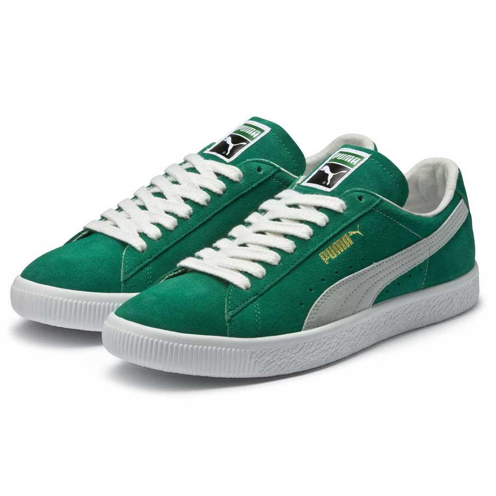 Puma Select Suede 90681 Kelly Green / Baskets Puma White , Baskets / Puma select , mode d13042