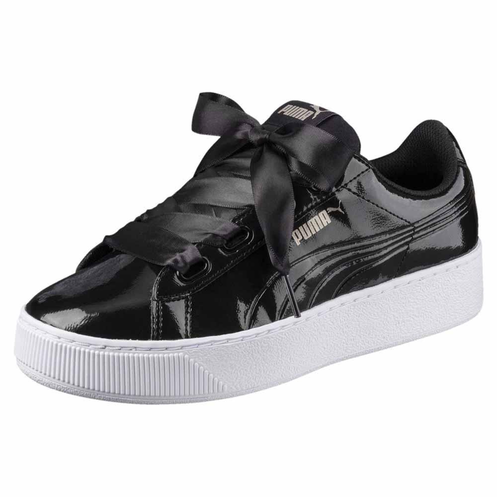 Details zu Puma Vikky Platform Ribbon P Schwarz T15998 Sneakers Frau Schwarz , Sneakers