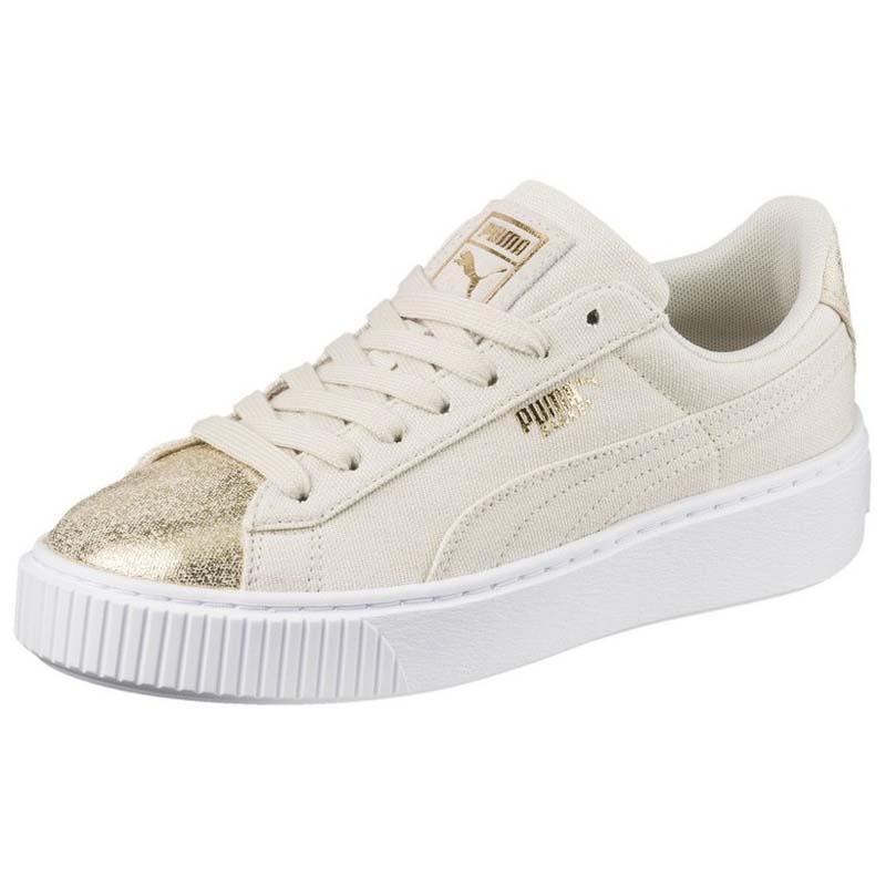 Puma Select Basket Platform Canvas Birch / Puma Sneakers Team Gold , Sneakers Puma Puma select bec420