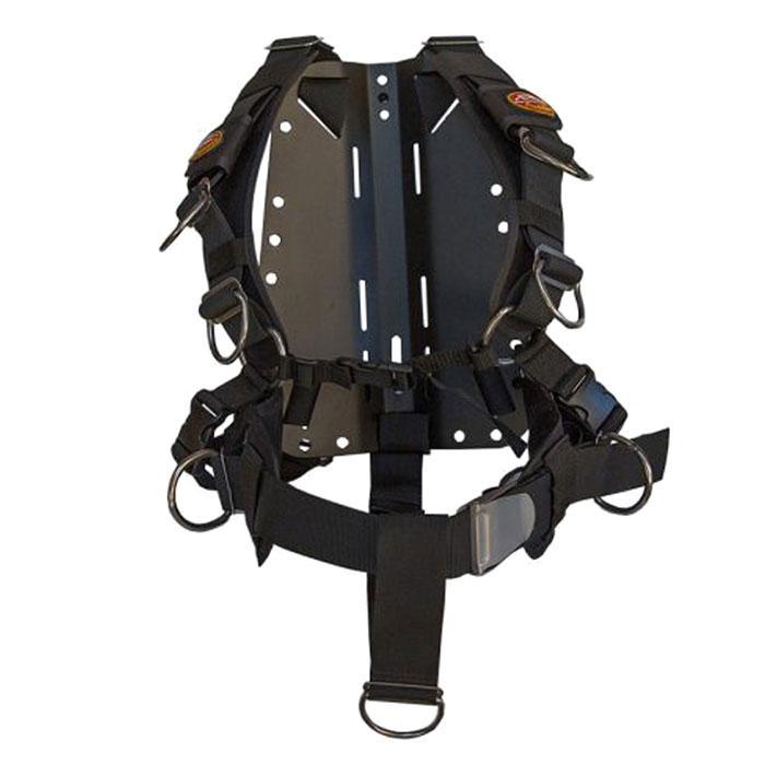 Amphibian Gear Tech Harness Aluminium Black Einzelteile Tech Harness Aluminium