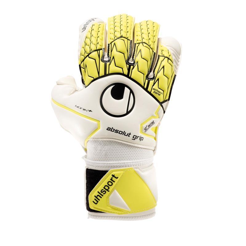 Uhlsport Gants Gardien Absolutgrip Bionik+ 11 White / Fluo Yellow / Black