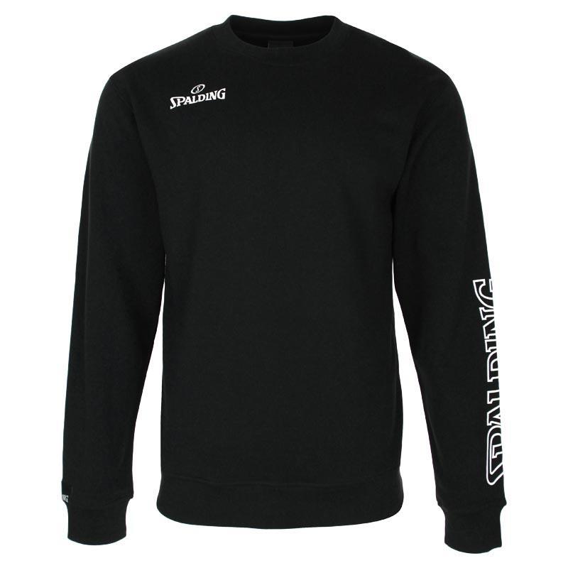 Spalding Team Ii Crew Sweatshirt S Black