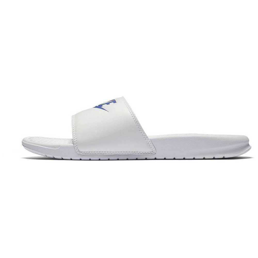 Nike Benassi Just Do It EU 45 White / Varsity Royal / White