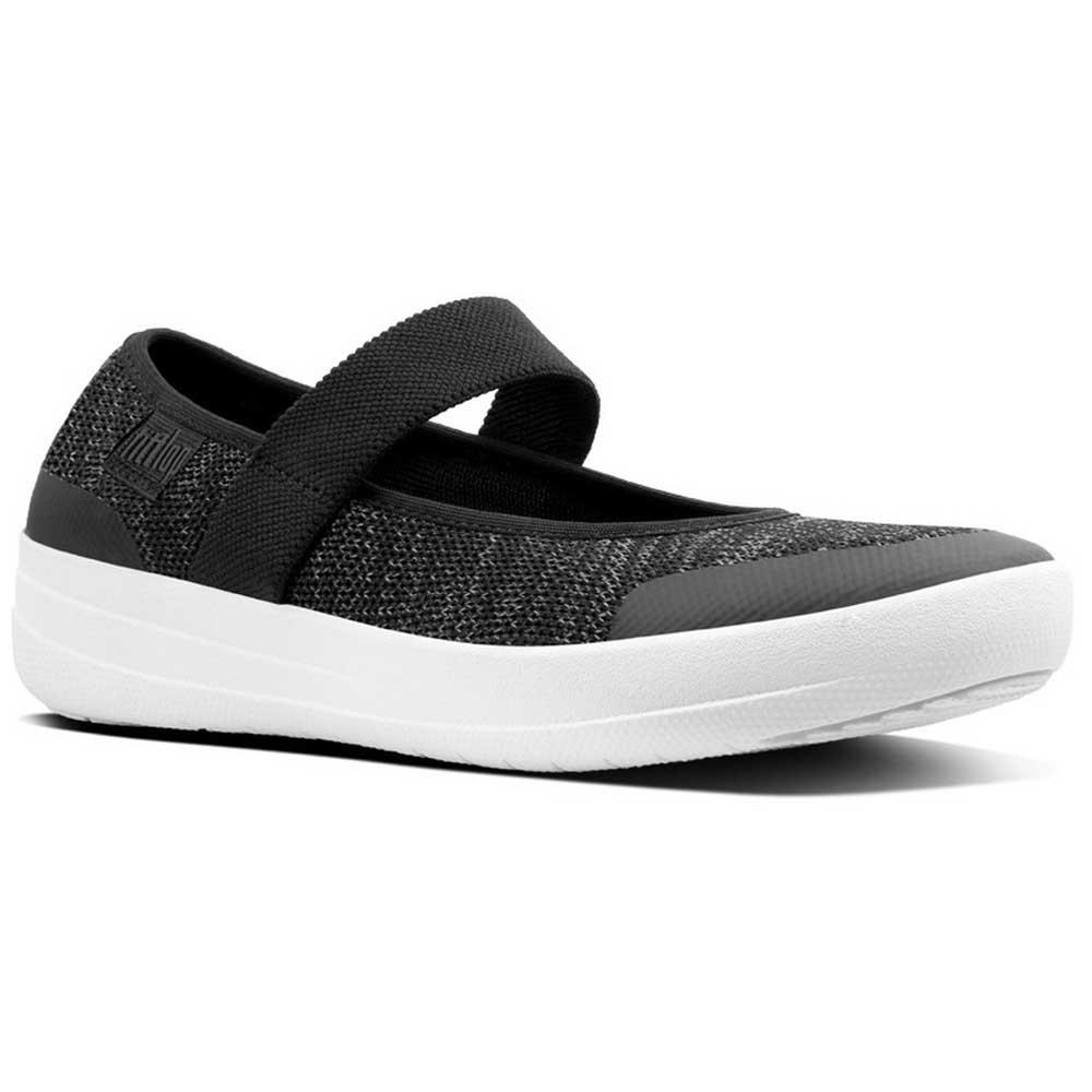 e6865d065d11af FitFlop Uberknit Mary Jane - Black soft Grey (textile) Womens Shoes ...
