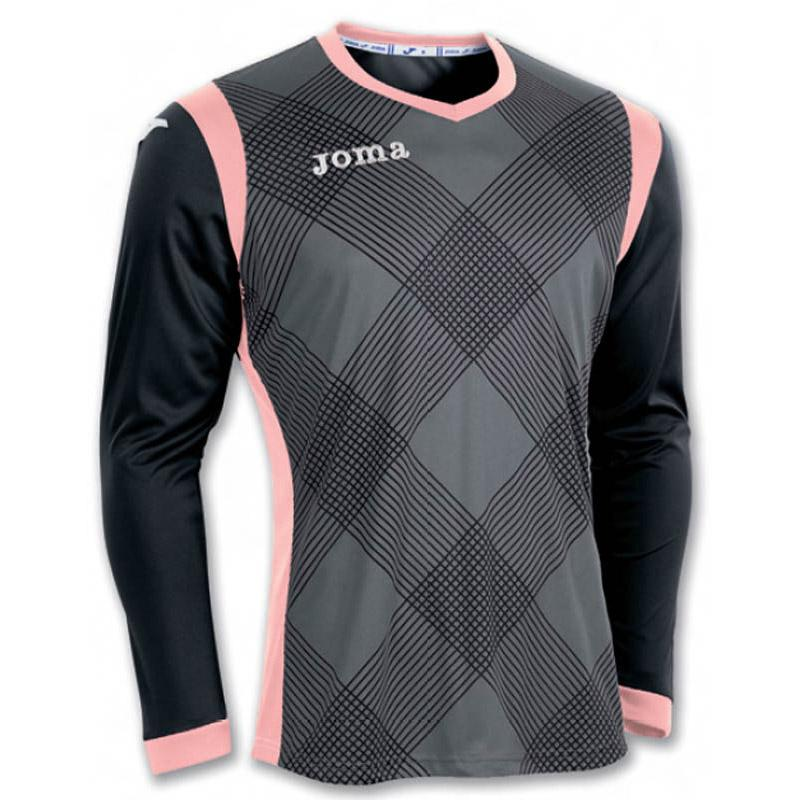 Joma Derby T-shirt Manche Longue 4-6 Years Anthracite / Black / Salmon Fluor