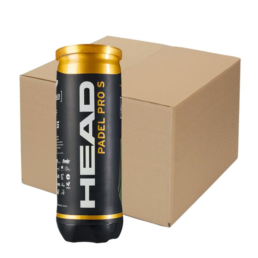 Head Racket Padel Pro S Box 24 x 3 Balls Yellow