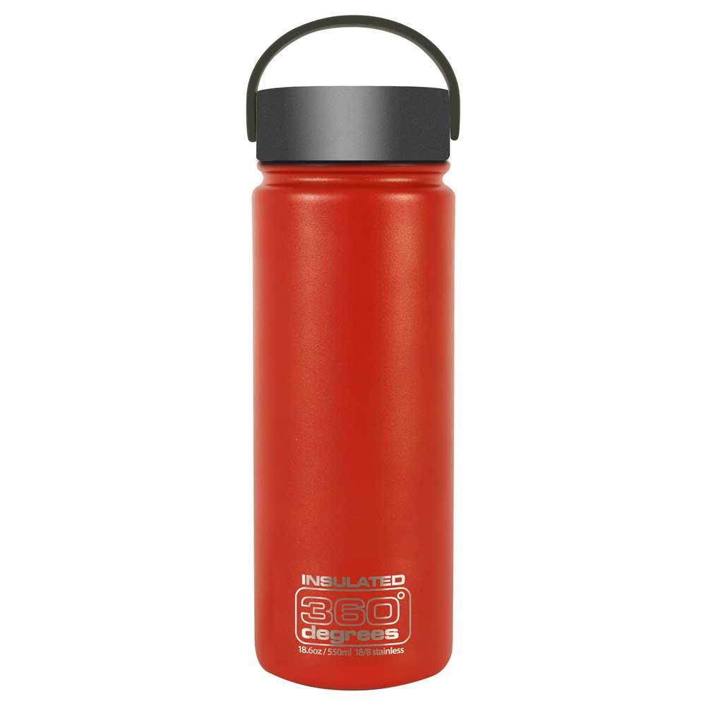 360 Degrees Wide Mouth Insulated 550ml One Size Red