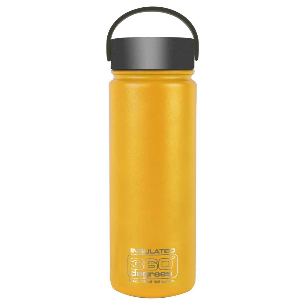 360 Degrees Wide Mouth Insulated 550ml One Size Yellow