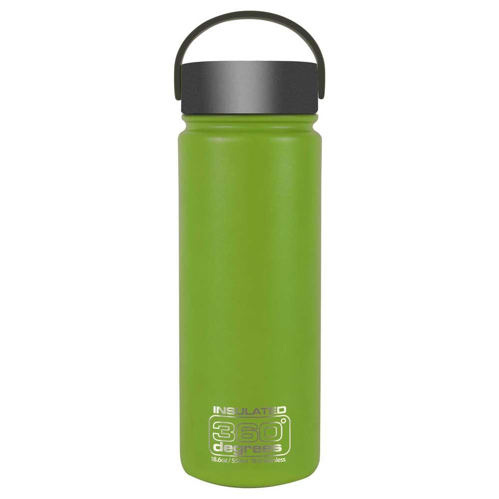 360 Degrees Wide Mouth Insulated 550ml One Size Green
