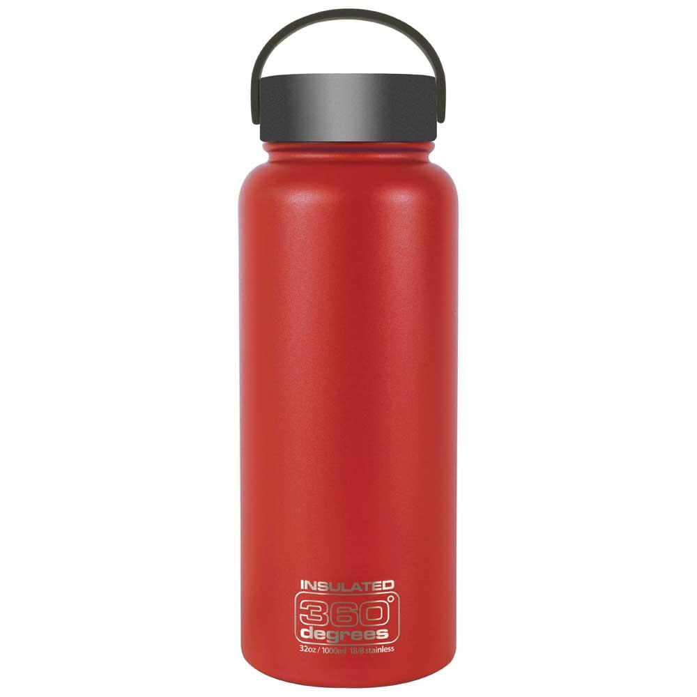 360 Degrees Wide Mouth Insulated 1l One Size Red