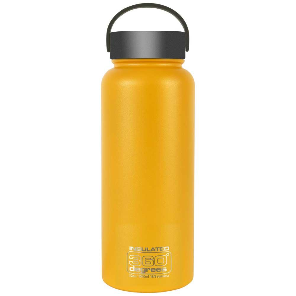 360 Degrees Wide Mouth Insulated 1l One Size Yellow