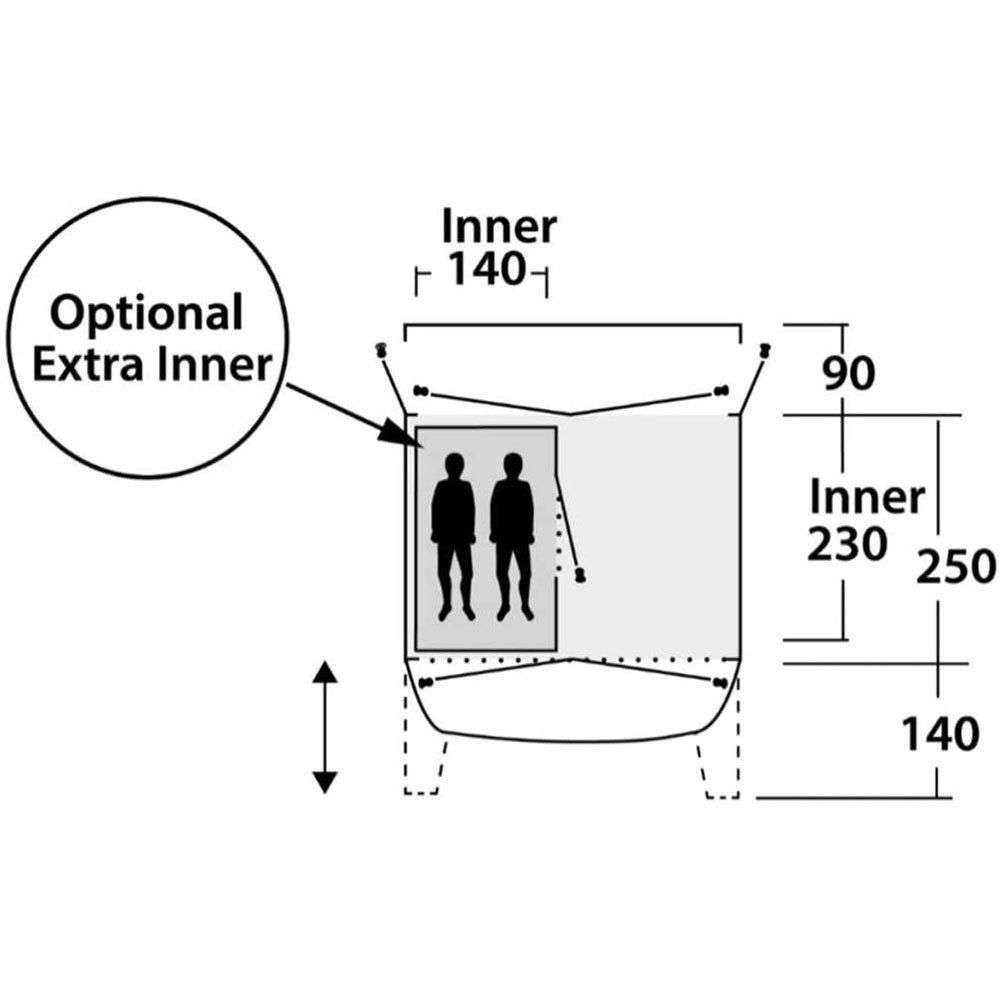 Outwell Khyam 11mm Glasfaser To 19mm Stahl Zelt Pfosten Plastik Gelenk Verbinder