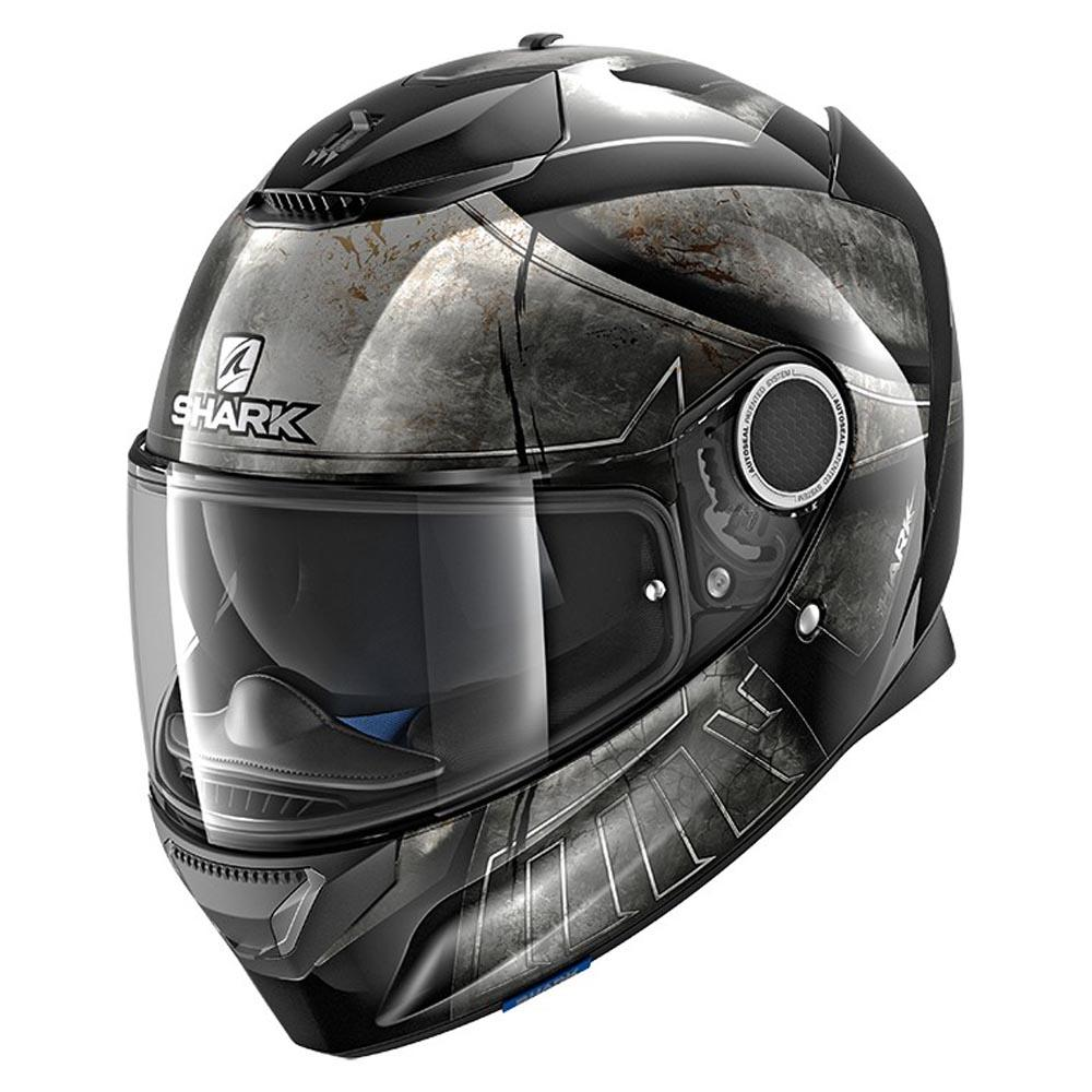 Shark Spartan Hoplite Black / / / Chrome / Black , Casques Shark , moto 9a2fd3