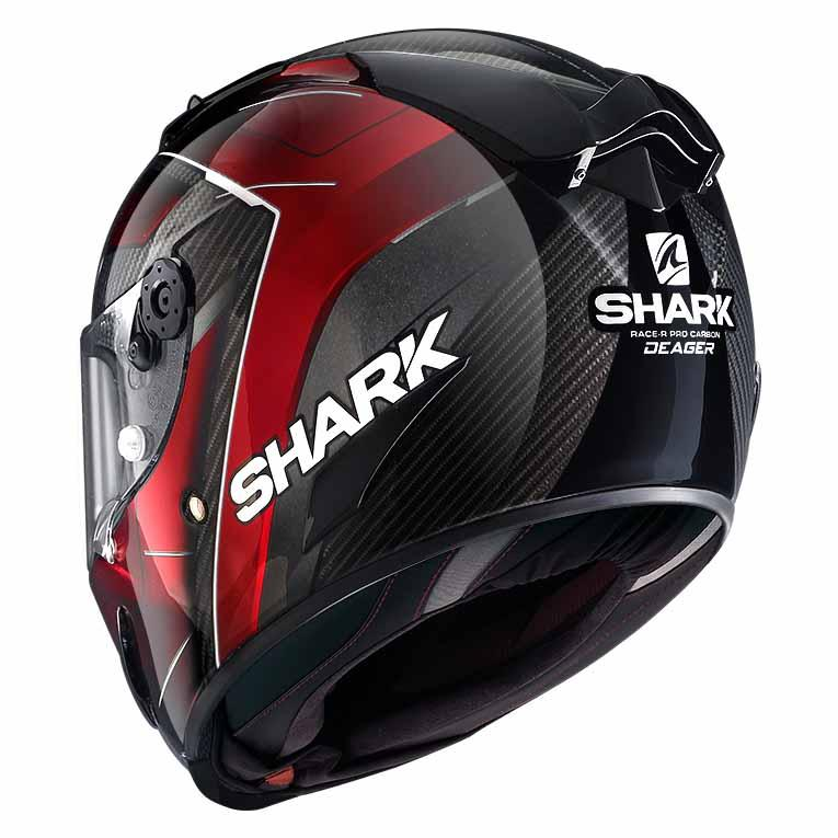 Shark Race-r Pro Carbon Deager Carbon / Chrome Chrome Chrome / Red , Casques Shark , moto cc71f7
