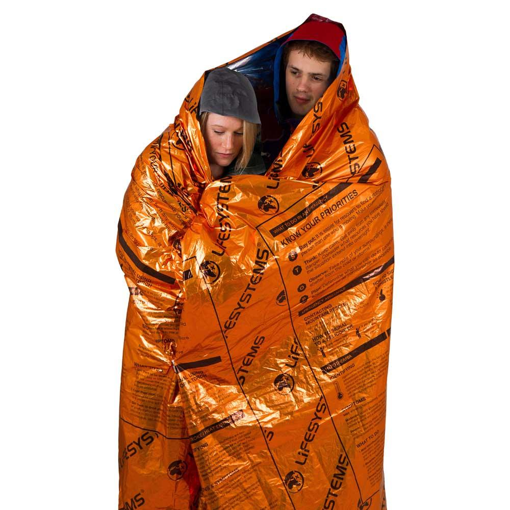 Lifesystems Heatshield Thermal Blanket 2 Places Orange