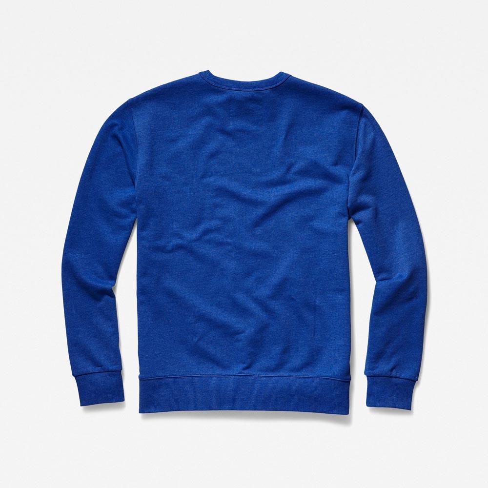 Gstar-Loaq-Round-Neck-Hudson-Blue-Heather-Sweatshirts-Gstar-mode