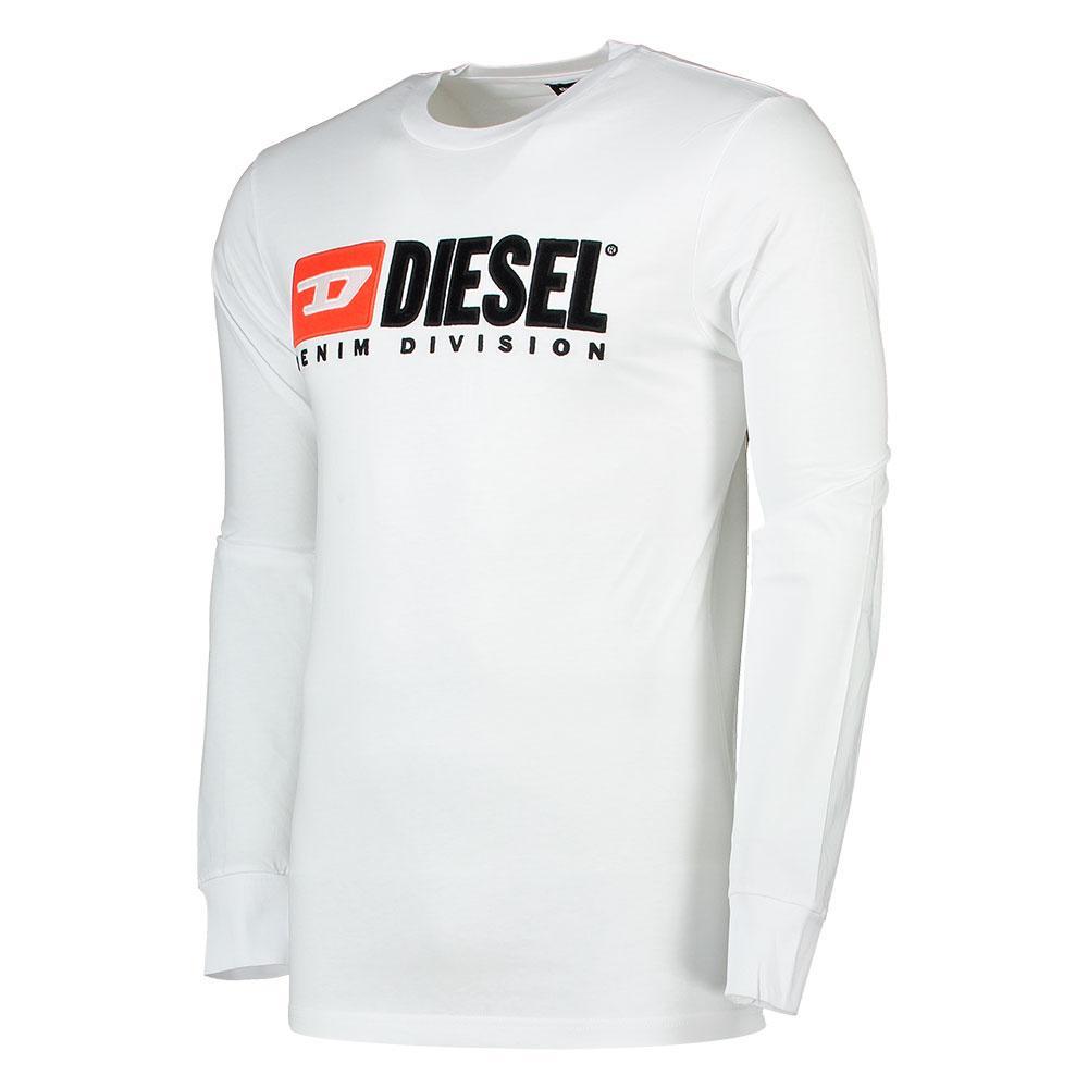 Diesel Just Division L s Weiß  T-Shirts Diesel  mode  Herrenkleidung