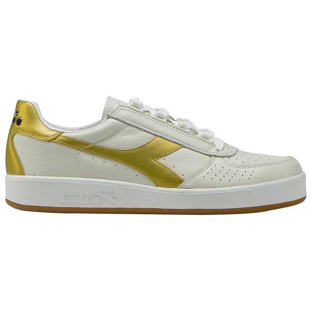 Diadora Sportswear B Elite L White / Gold , Baskets mode Diadora sportswear , mode Baskets 6e9024
