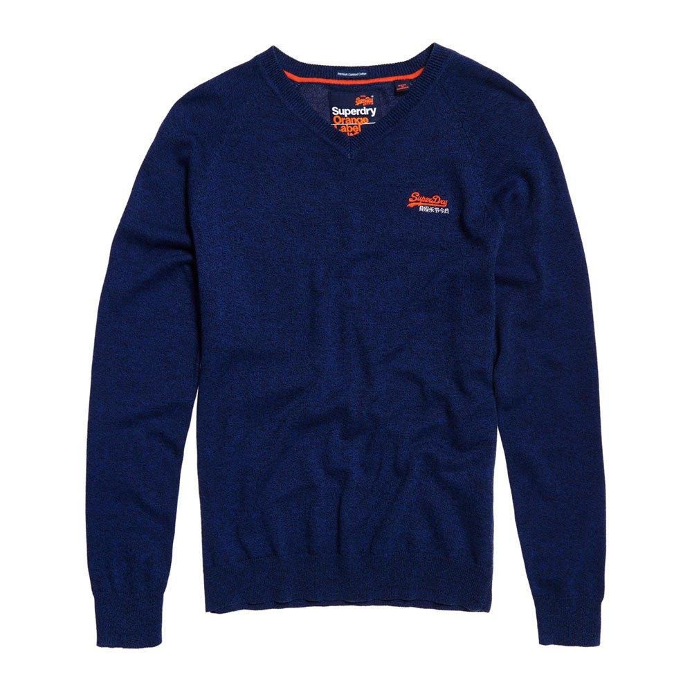 Superdry arancia Label Utah Cotton Vee Utah Label Royal Grit , Pullover Superdry , moda 5b04f5
