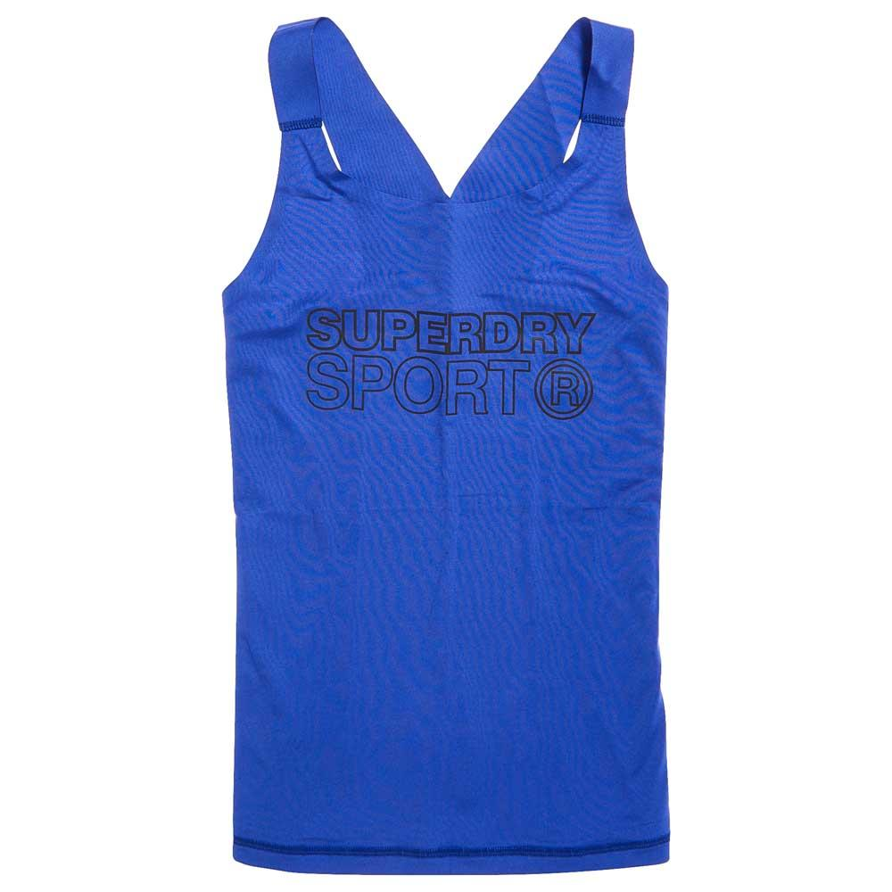 Superdry Active Fitted Vest XS Electric Blue
