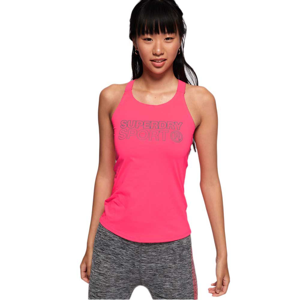 Superdry Active Fitted Vest L Fusion Pink