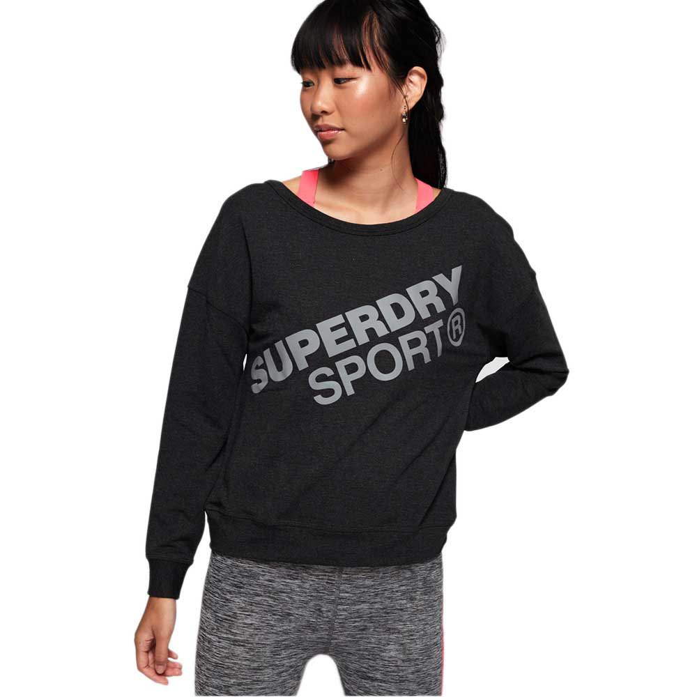 Superdry Active Graphic Crew L Black Marl