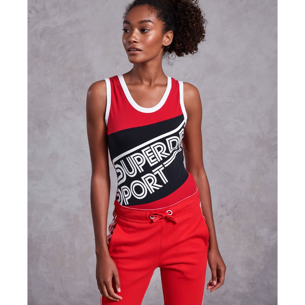 Superdry Dry Athletics Fitness Body XS True Red