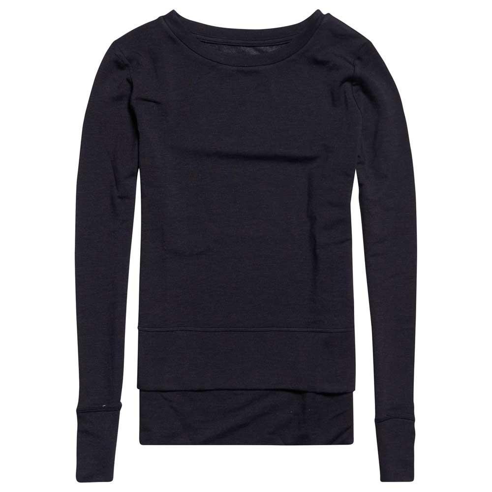 Superdry Sweatshirt Active Studio Luxe Crew XXS Black Marl