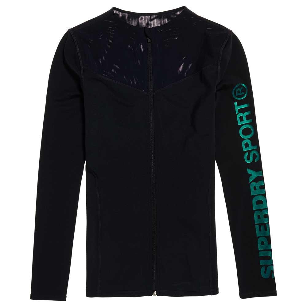 Performance shirts Fitness Superdry Noir Sweat nvTOx0ZWa