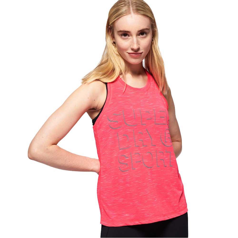 Superdry T-shirt Sans Manches Core Loose XL Fusion Pink