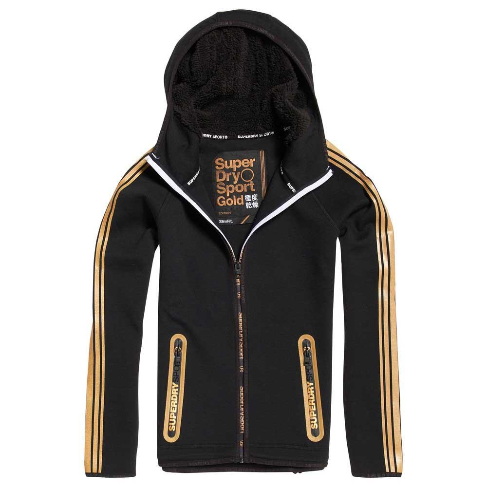Superdry Gymtech Gold Ziphd XXS Black