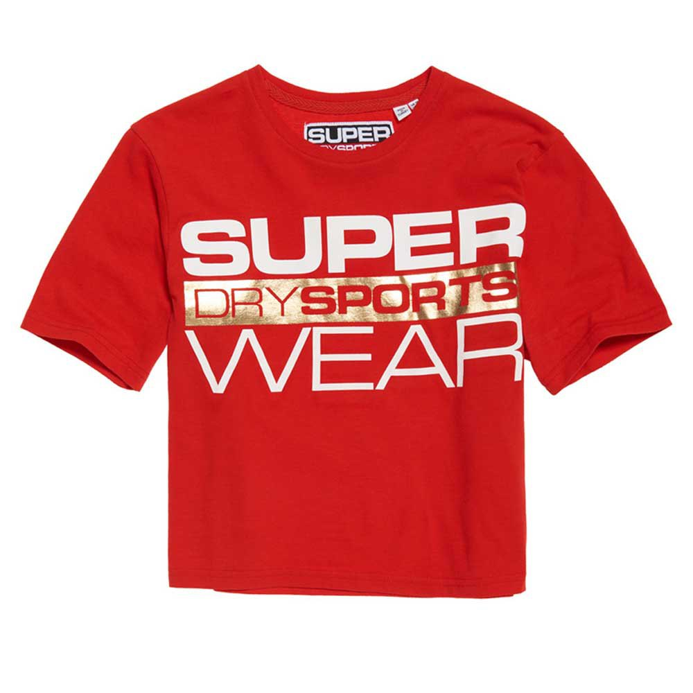 Superdry Street Sports Crop XL True Red