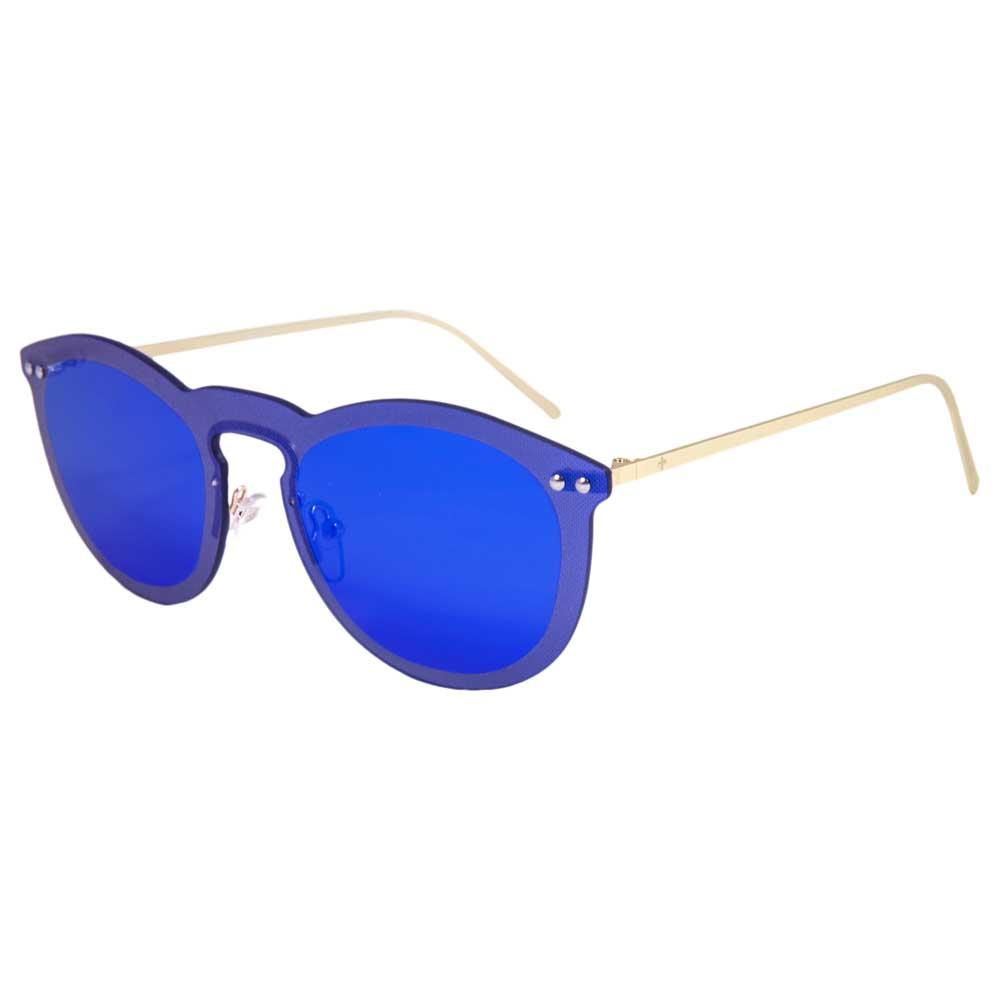 Lenoir Eyewear Cannes Space Flat Dark Revo Blue/CAT3 Metal Gold Temple