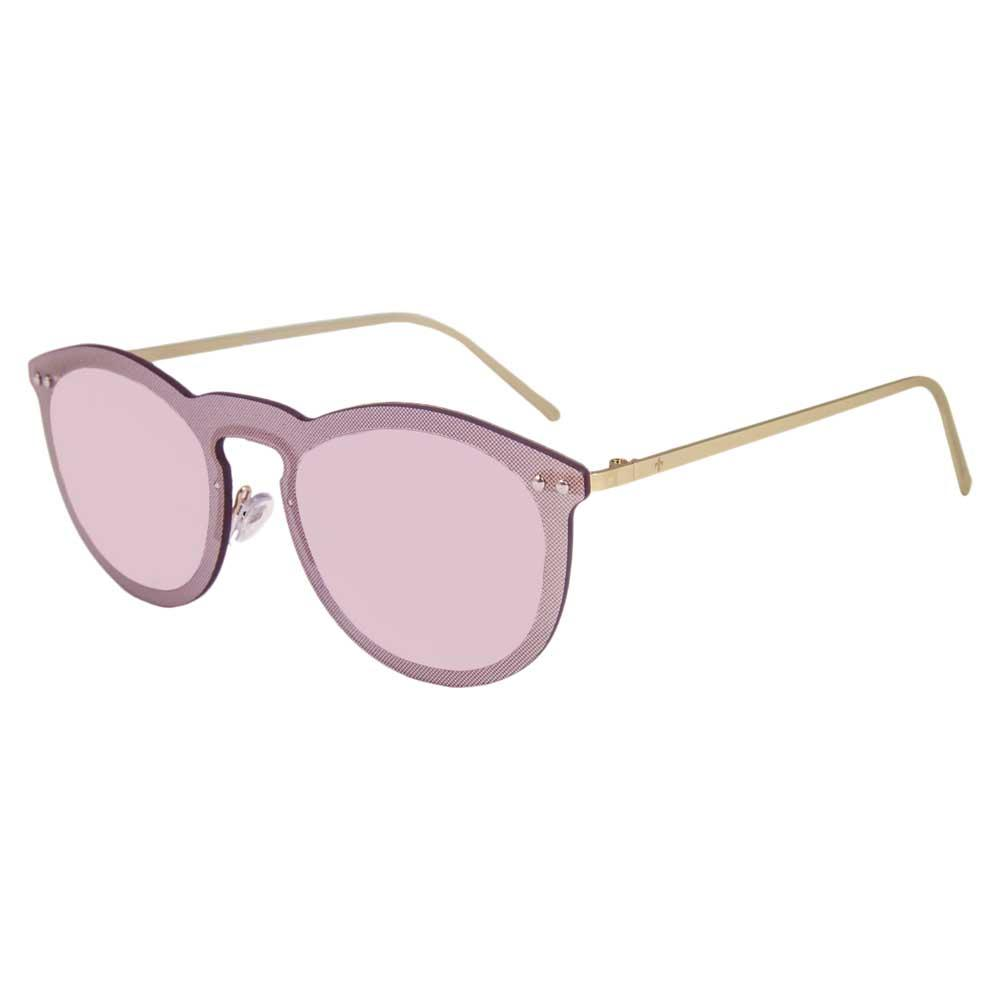 Lenoir Eyewear Cannes CAT3 Space Flat Revo Pink Lens With Metal Gold Temple