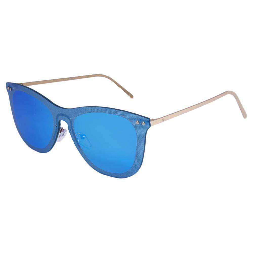 Lenoir Eyewear Saint Tropez Space Flat Revo Sky Blue/CAT3 Matt Gold Temple