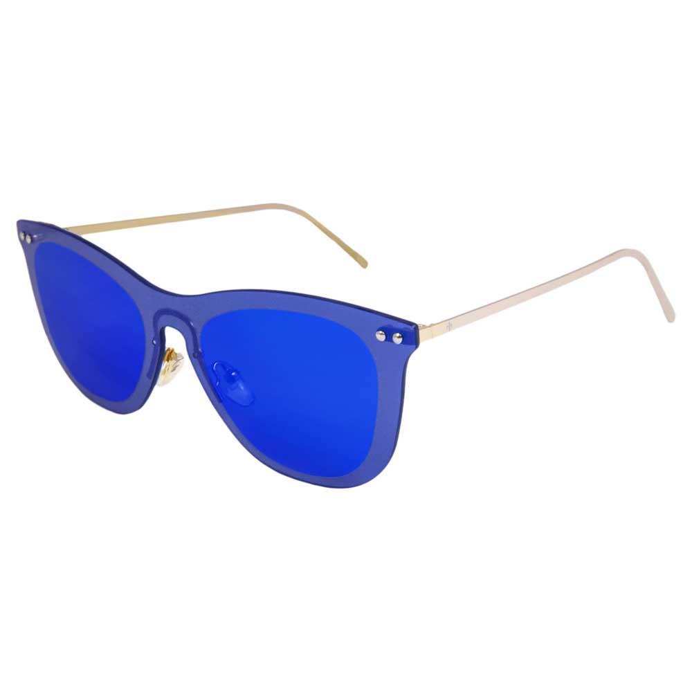 Lenoir Eyewear Saint Tropez Space Flat Revo Dark Blue/CAT3 Matte Gold Temple