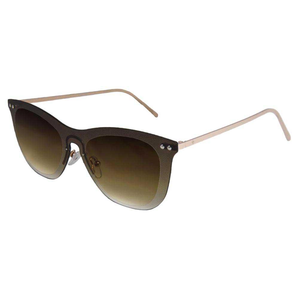 Lenoir Eyewear Saint Tropez Space Flat Grad Brown/CAT3 Matte Gold Temple