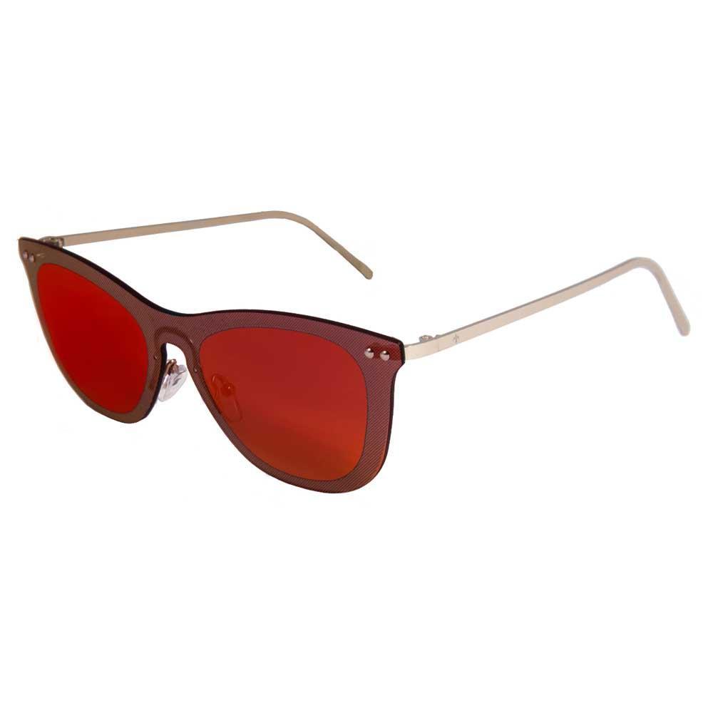 Lenoir Eyewear Saint Tropez Space Flat Revo Green/CAT3 Matte Gold Temple