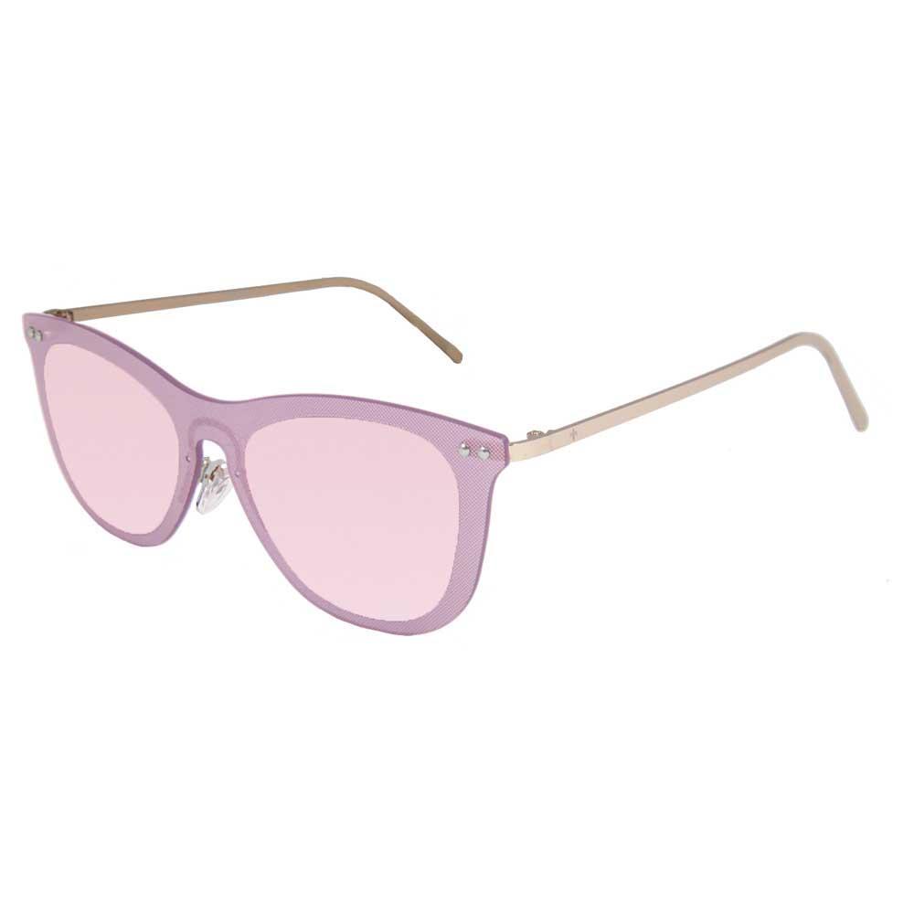 Lenoir Eyewear Saint Tropez CAT3 Space Flat Revo Pink Lens With Matte Gold Temple
