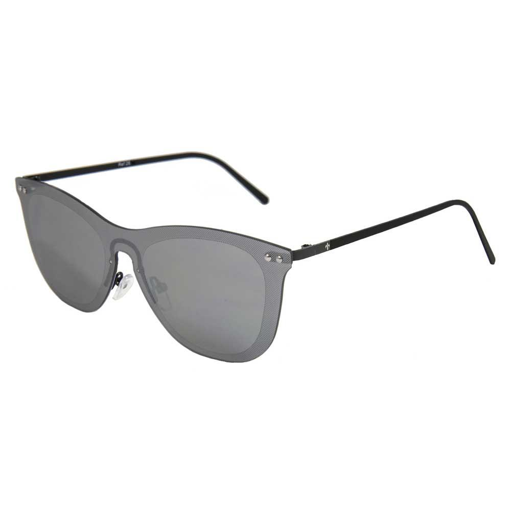 Lenoir Eyewear Saint Tropez Space Flat Revo Silver/CAT3 Matte Black Temple
