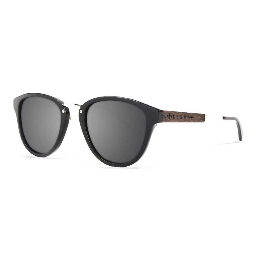 Lenoir Eyewear Nicolas CAT3 Matte Black With Ebony Wood With Grey Lens