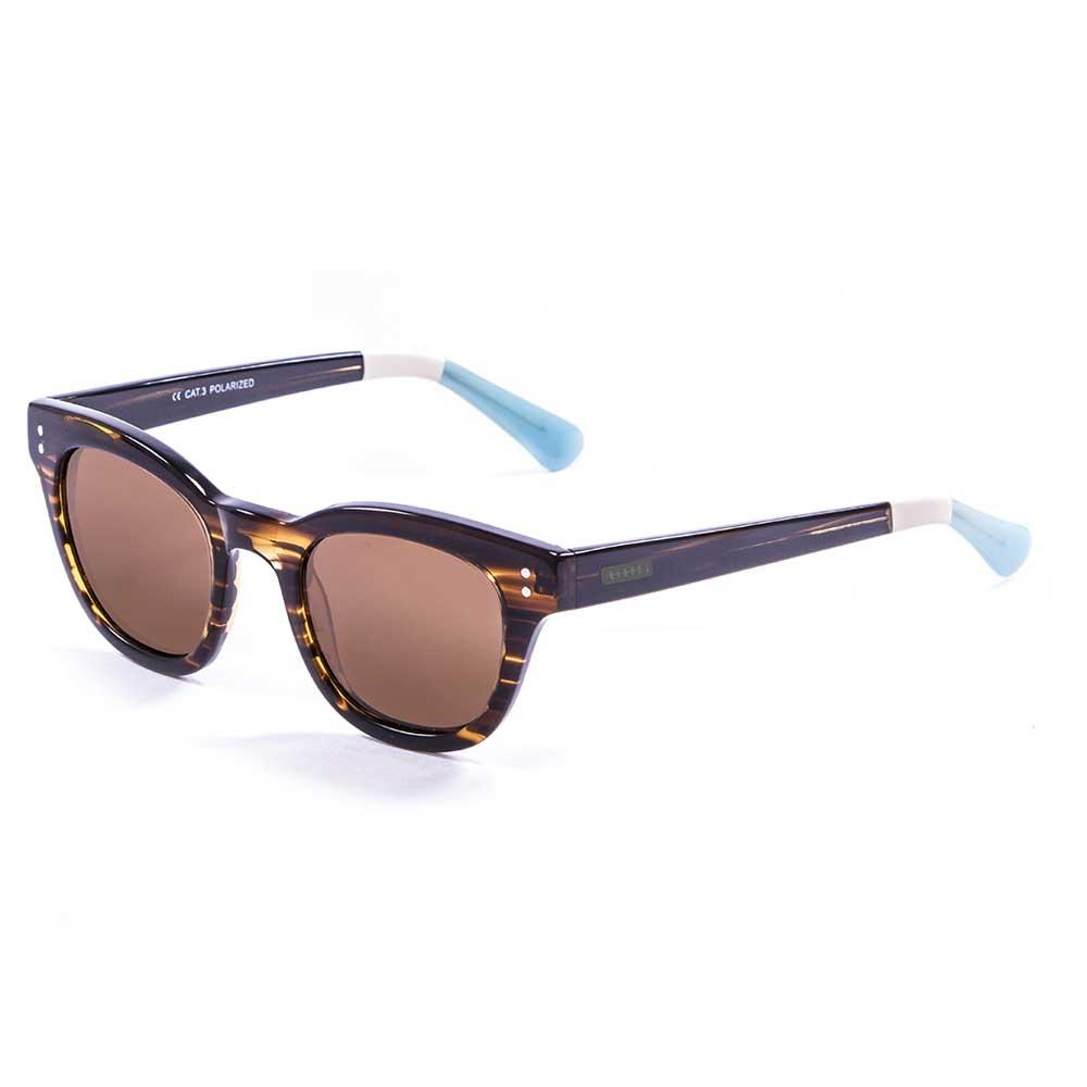 Lenoir Eyewear Croisette Frame Brown/CAT3 Blue And White In The Arms