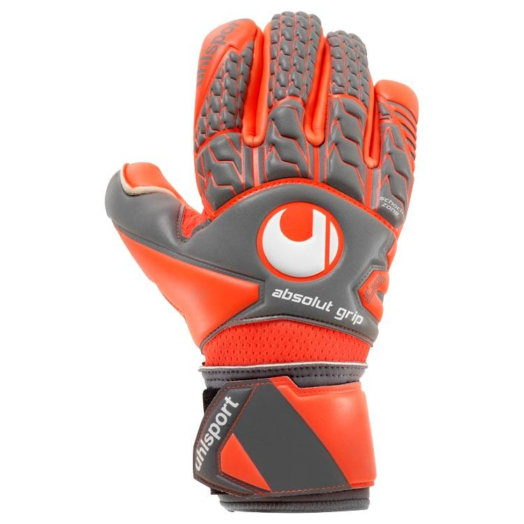 Uhlsport Gants Gardien Aerored Absolutgrip Finger Surround 10 1/2 Dark Grey / Fluo Red / White