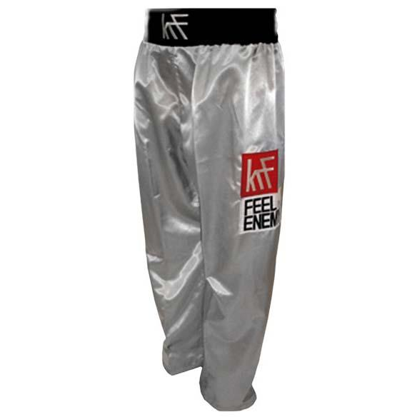Krf Kick Boxing Long Pants S Silver