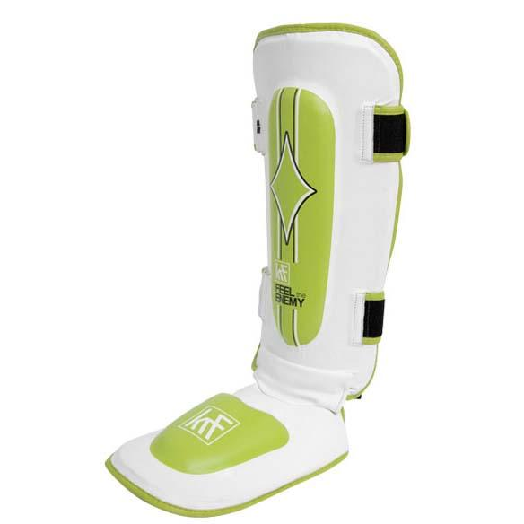 Krf Pro Shin Guard With Foot Protection L White