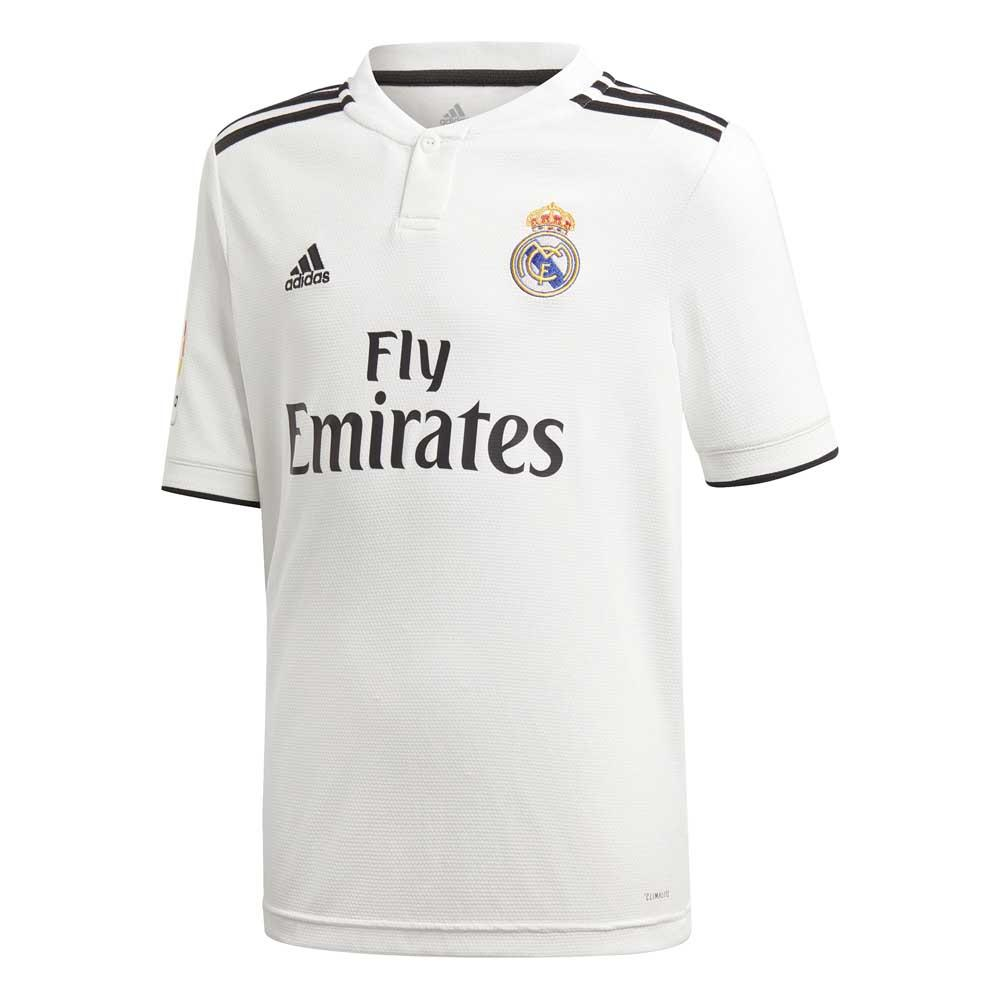 Adidas T-shirt Real Madrid Domicile 18/19 Junior 128 cm Core White / Black